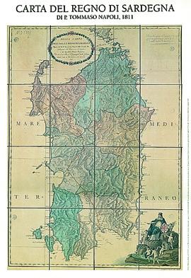 Carta del Regno di Sardegna di Tommaso Napoli (1811)