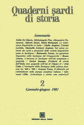 Quaderni sardi di storia 2. Gennaio-Giugno 1981