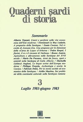 Quaderni sardi di storia 3. Luglio 1981-Giugno 1983