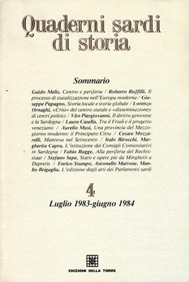 Quaderni sardi di storia 4. Luglio 1983-Giugno 1984