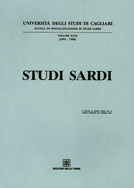 Studi Sardi XXXI